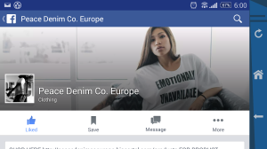 Pic of Peace Denim Co Europe's FB page.